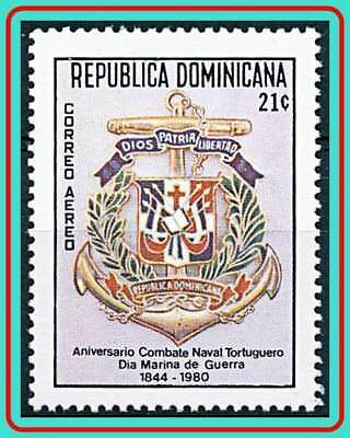 Dominican Rep.1980 Navy Day Mnh Arms, Ships, Military