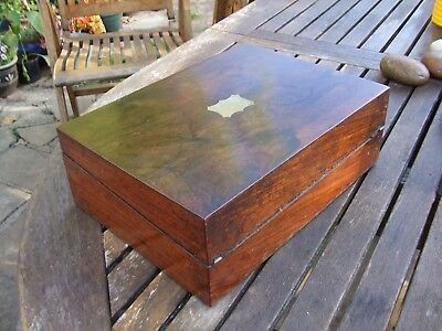 ANTIQUE ROSEWOOD WRITING SLOPE GREAT COLOUR but needs a little tlc