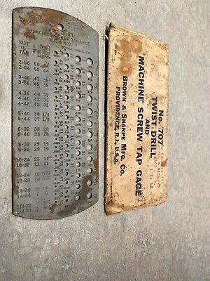 Vintage/Classic Brown & Sharpe TWIST DRILL AND MACHINE SCREW TAP GAGE 1 TO 60
