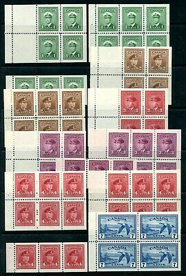 Weeda Canada 249a-C9a VF MLH set of KGVI War Issue booklet panes CV $84