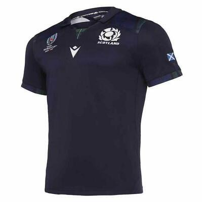 New Hot Scotland RUGBY WORLD CUP HOME Man SHIRT 2019 RWC ADULT JERSEY