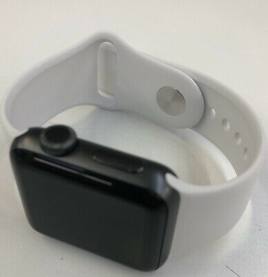Apple Watch Series 3 (GPS) 38mm Space Gray Aluminum Case with White Sport Band