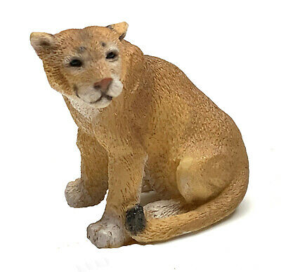 "Puma Figurine Living Stone 2"" Resin Statue New Collectible"