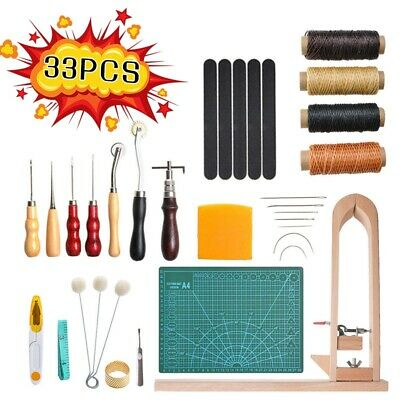 Stitching Carving Sewing Saddle Groover Leather Craft Kit Punch Working Tools