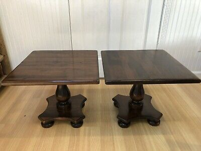 Pair Of Ethan Allen Mid Century Old Tavern Pine End Tables