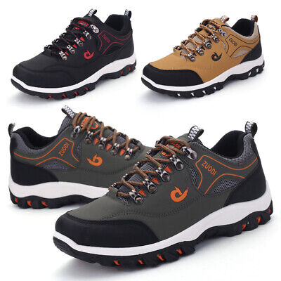 Mens Hiking Boots Walking Wide Fit Trail Trekking Trainers Sneakers Shoes Size