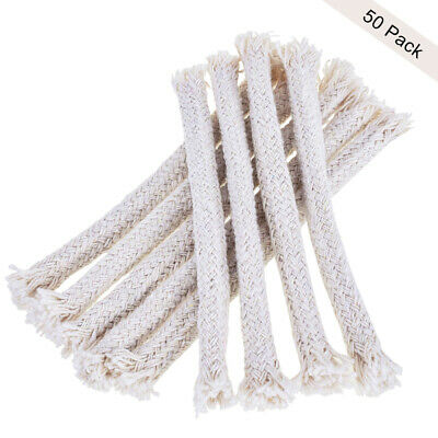 50x Light Wick Round Hollow Cotton Wires for Candle Oil Lamp Garden Torch Burner