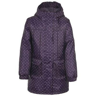 Bnwt New Girls Trespass Padded Coat Age 3/4 Years Purple Jacket Waterproof Warm