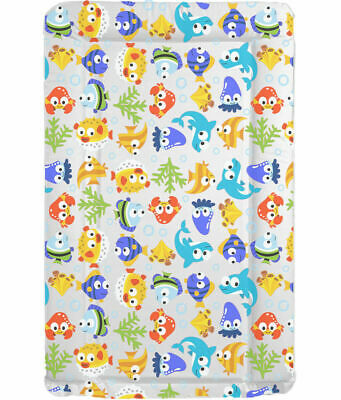 MollyDoo UK Made Baby Boys Girls Bright Fishy Fun Design Nappy Changing Mat