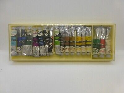 BOX 18 Vtg. SPECIAL HIGH CLASS GUITAR OPAQUE WATER COLOURS / COLORS JAPAN
