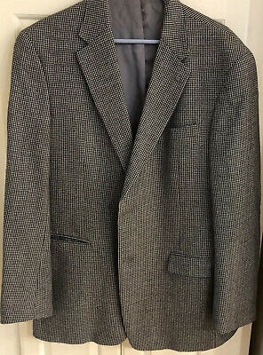 Austin Reed London Mens 44L Gray Houndstooth Sport Coat 2 Button Blazer Jacket