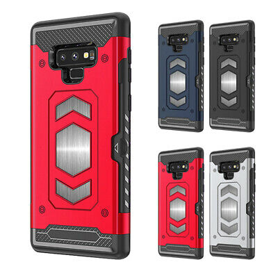 For Samsung Galaxy S9 S10 Plus Note 9 Case Heavy Duty Card Holder phone Cover