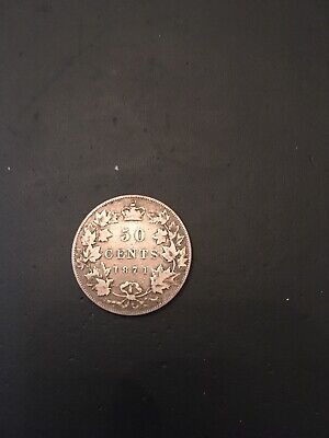 Canada Canadian Queen Victoria 50 Cents Half Dollar 1871 Strong Fine Or Better