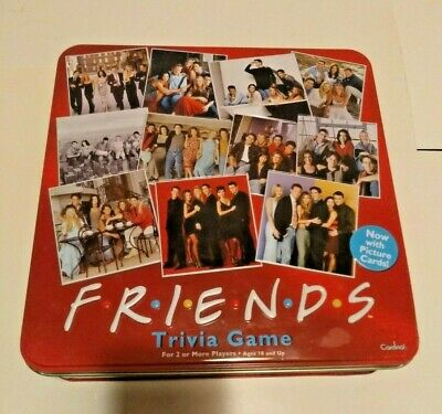 Friends Trivia Game 2003 Red Tin Complete