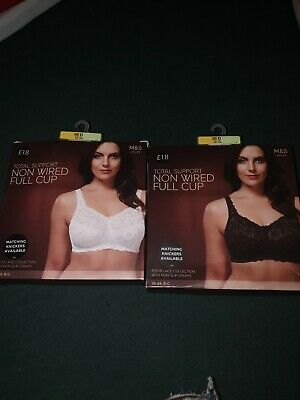 Ms total support non-wired bra BRAND NEW 38D x2 white and black