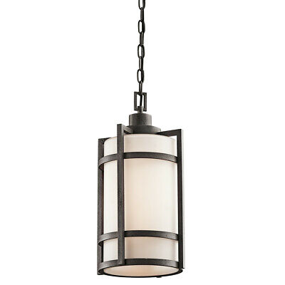 Kichler 49124 Anvil Iron Single Light Outdoor Pendant From The Camden Collection