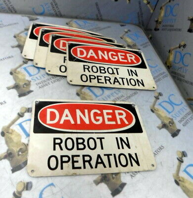 Danger Robot In Operation Sign Lot Of 5