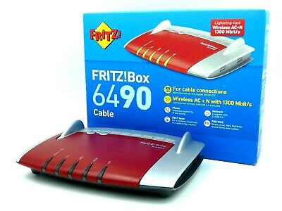 FritzBox 6490 WLAN Cable Router Ohne Branding Fritz OS7 für alle Kabel Anbieter
