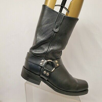Double H Black Leather Harness Cowboy Motorcycle Riding Boots Mens Size 11 D