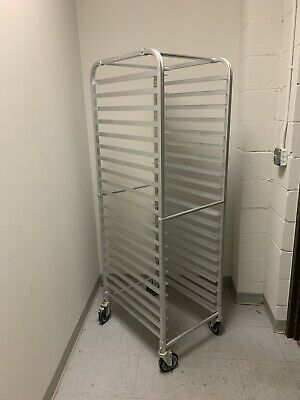 "Sheet Pan Rack -  Welded, Aluminum, Front load 20 Pans 5"" Castor With 2 Brakes"