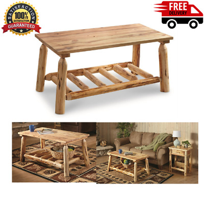 Castlecreek Pine Log Wood Sofa Table
