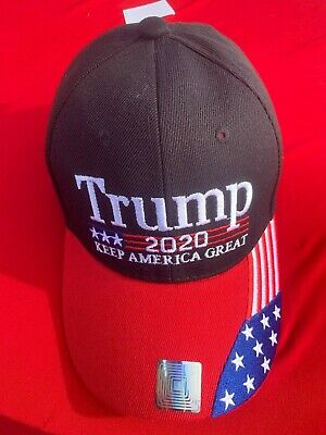 President Donald Trump Black Red 2020 Keep America Great Hat Cap
