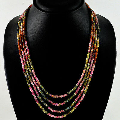 194.00 CTS NATURAL UNTREATED WATERMELON TOURMALINE ROUND SHAPE BEADS NECKLACE