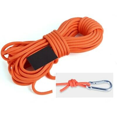 Mountaineering Rock Climbing Rope Safety Rescue Auxiliary Cord Outdoor 10/20/30m
