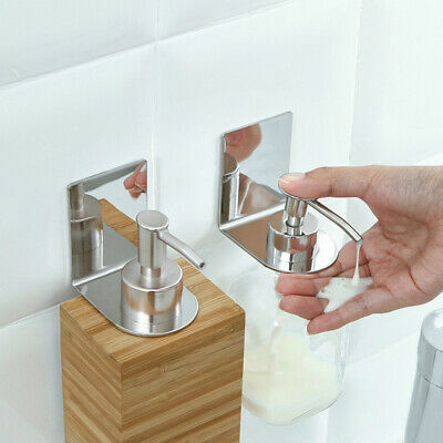 Stainless Steel Rack Shower Gel Shampoo Soap Liquid Wall Mount Holder Bathroom