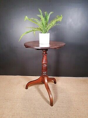 Antique Georgian Oak Tripod Wine Table