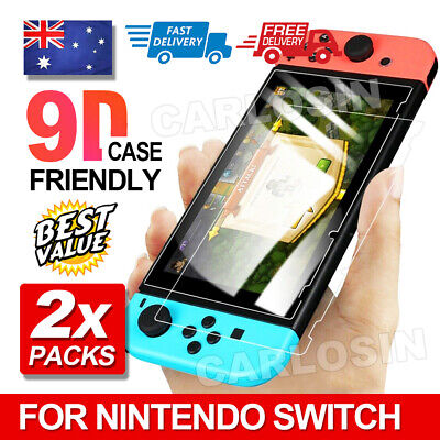 2 X CARLOSIN Nintendo Switch Tempered Glass Screen Protector for Nintendo Switch