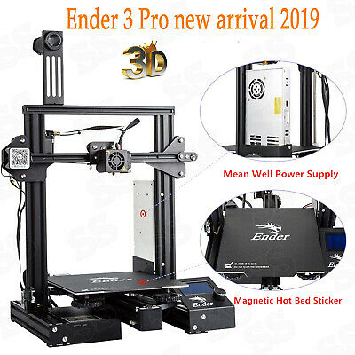 Creality Ender 3 Pro 3D Printer 220X220X250mm Mean Well Power DC 24V PLA NEW