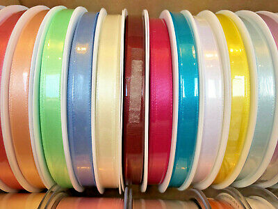 Berisfords Premium Double Satin Ribbon 35 Shades 3mm 7mm 10mm Width Cut to Order