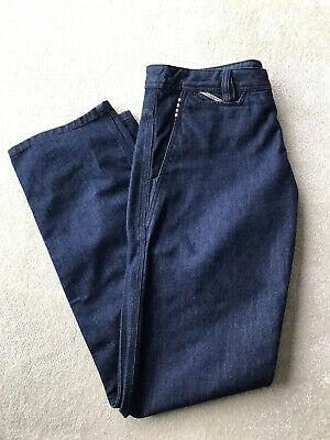 Diesel Chinew Jeans W34 L32 Dark Blue Straight Cut Worn Once Button Front