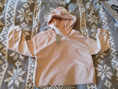 BNWT girls pink velour hoodie and jog pants by RIVER ISLAND in size 5 - 6 years