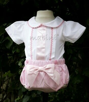 Baby Girl  Spanish Romany Style 2 piece set Jam pant pink 0 months -  3-4 years