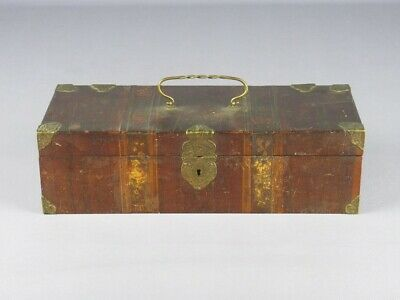 Antique Box Wood with Blossom Painted and Fret Brass Period XIX Century