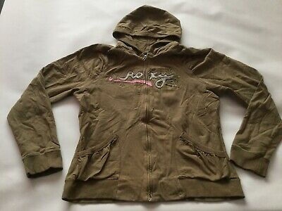 Girls Genuine Quiksilver Roxy Hooded Jumper Size Xl Age 13-15 Years Old VGC