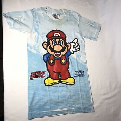Vtg Super Mario Bros 2 1989 Nintendo Single Stitch Kids T-Shirt Size M 10-12