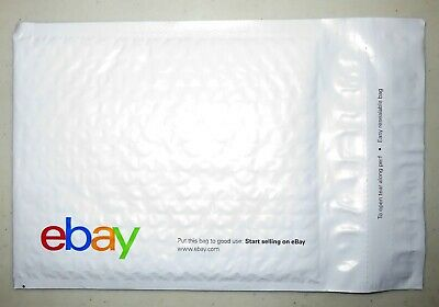 "100 eBay-Branded Padded Airjacket Bubble Mailers Multi-Color Print 6.5"" x 9.25"""
