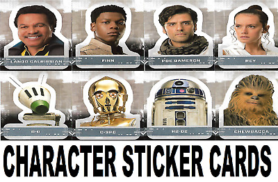 Topps Star Wars The Rise Of Skywalker  Character Sticker Cards