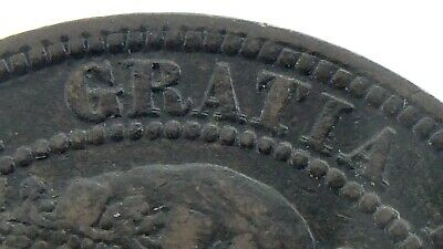 1881 H Double R Double A Canada One Cent Large Copper Penny Circulated Coin M887