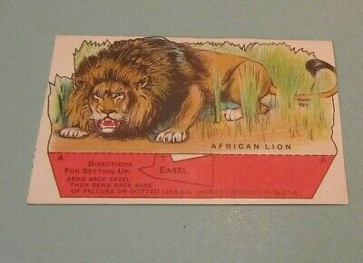 Vintage Dr. Jayne's Tonic Vermifuge Jungle Animal African Lion Advertising Card