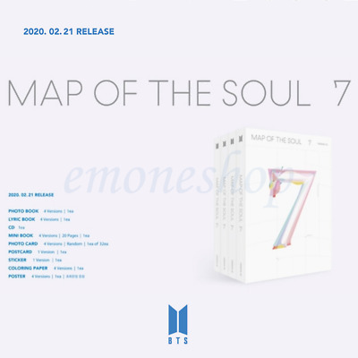 BTS [ MAP OF THE SOUL : 7 ] ALBUM PACKAGE + BENEFITS +CD+Photobook+Etc+Tracking#
