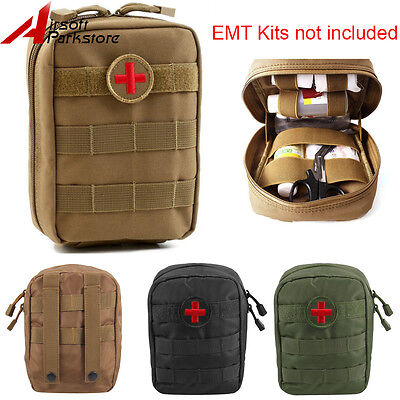 Tactical EMT Molle Belt Utility Medic Bag Medical First Aid Tools Pouch Outdoor