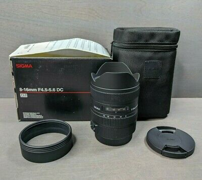 Sigma DC 8-16mm f/4.5-5.6 HSM DC Lens For Canon - Nice!