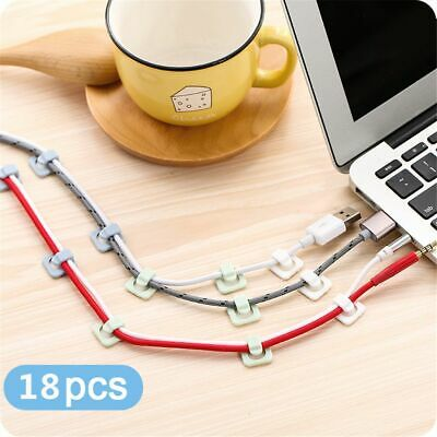 Fastener Holder Wall Wire Organizer Cord Line Clips Fixed Buckle Self-adhesive