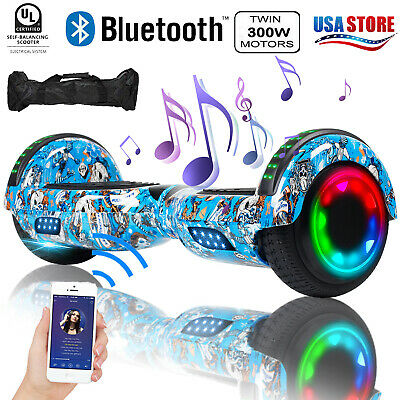 "6.5"" Bluetooth Hoverboard LED Two Wheel Self Balance Electric Scooter UL2272 Bag"