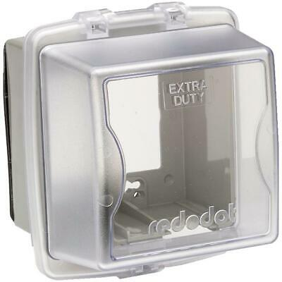 2 Gang Large While-In-Use Extra Duty Weatherproof Clear Receptacle Cover