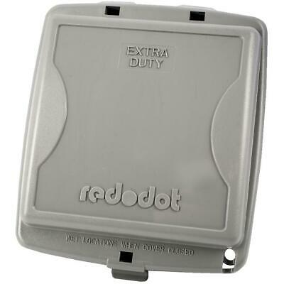 2 Gang Medium While-In-Use Extra Duty Weatherproof Grey Receptacle Cover